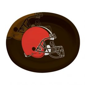 NFL Cleveland Browns Paper Oval Platters 10