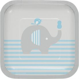 Little Peanut Blue Snack or Dessert Paper Plates Square 7