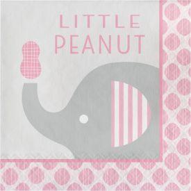Little Peanut - Girl Lunch Napkins, Little Peanut