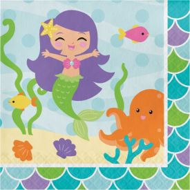 Mermaid Friends Lunch Napkins