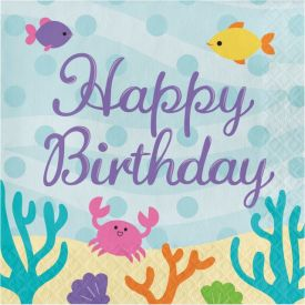 Mermaid Friends Happy Birthday Lunch Napkins