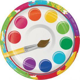 Art Party Appetizer or Dessert Plates 7