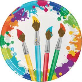 Art Party Dinner Plates 9
