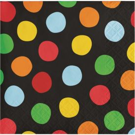 Polka Dot Birthday Beverage Napkins