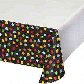 Polka Dot Birthday Plastic Table Covers 48