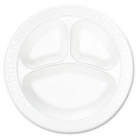 Dart® Concorde; Non-Laminated Foam Plate, 3-Comp, 10 1/4