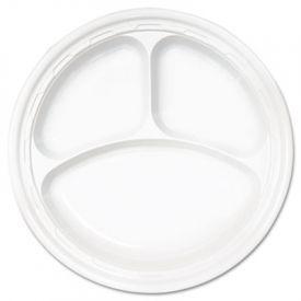 Dart® Famous Service; Impact Plastic Plate, 3-Comp., 10 1/4