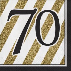 Black & Gold Lunch Napkins, 70