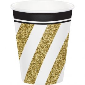 Black & Gold 9 oz Hot/Cold Cups