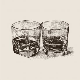Bourbon Trail Rocks Beverage Napkins 3-Ply Two-Sided