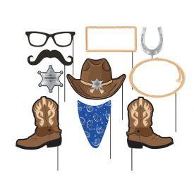 Blue Bandana Cowboy Photo Booth Props