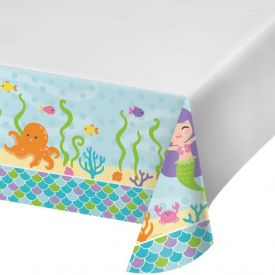 Mermaid Friends Plastic Table Covers 54
