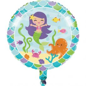 Mermaid Friends Metallic Balloon