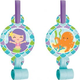 Mermaid Friends Blowouts with Medallion