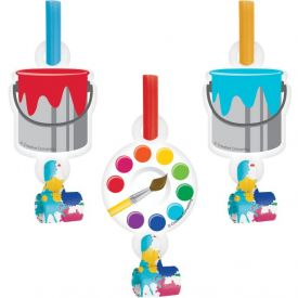 Art Party Blowouts with Medallion