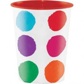Art Party Plastic Keepsake Cups 16 oz