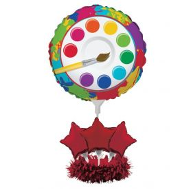 Art Party Air Filled Balloon Centerpiece Kit