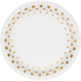 Sparkle and Shine Gold Appetizer or Dessert Plates Foil 7