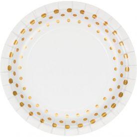 Sparkle and Shine Gold Appetizer or Dessert Plates Foil 7