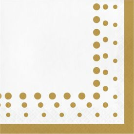 Sparkle and Shine Gold Lunch Napkins