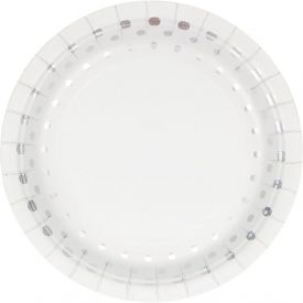 Sparkle and Shine Silver Appetizer or Dessert Paper Plates Foil 7