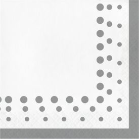 Sparkle and Shine Silver Lunch Napkins