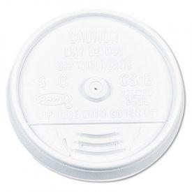 Dart® Plastic Lids, for 16 oz. Hot/Cold Foam Cups, Sip-Thru Lid