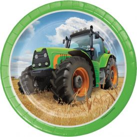 Tractor Time Snack or Dessert Plates 7