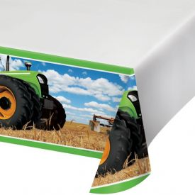 Tractor Time Plastic Tablecover 54