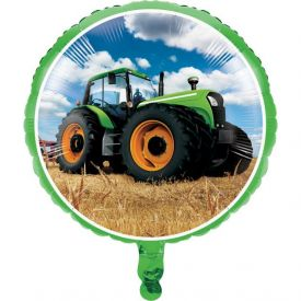 Tractor Time Metallic Balloon