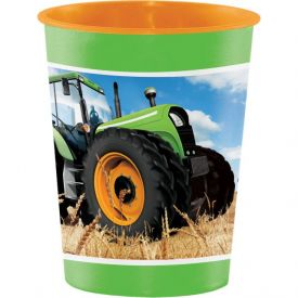 Tractor Time 16 Oz Plastic Keepsake Cup