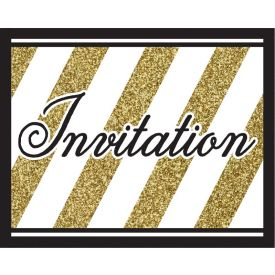 Black & Gold Invitation