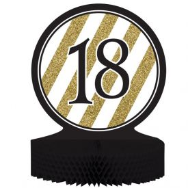 Black & Gold Centerpiece, Honeycomb, 18