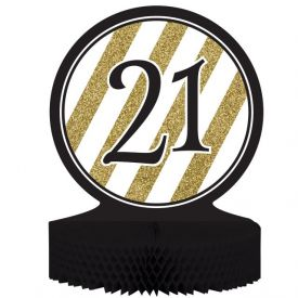 Black & Gold Centerpiece, Honeycomb, 21