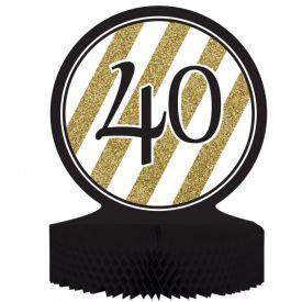 Black & Gold Centerpiece, Honeycomb, 40