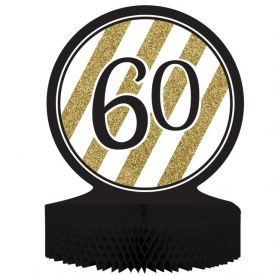 Black & Gold Centerpiece, Honeycomb, 60