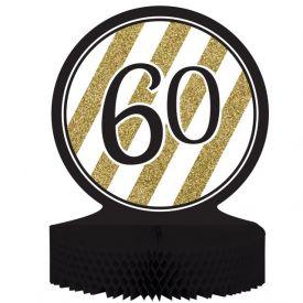 Black & Gold Centerpiece, Honeycomb, 60