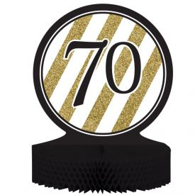 Black & Gold Centerpiece, Honeycomb, 70