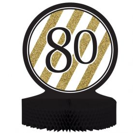 Black & Gold Centerpiece, Honeycomb, 80