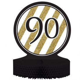Black & Gold Centerpiece, Honeycomb, 90