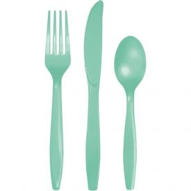 Fresh Mint Plastic Cutlery Assortment, Premium