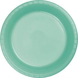 Fresh Mint Appetizer or Dessert Plastic Plates Bulk 7