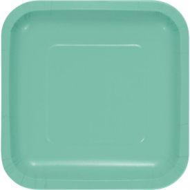 Fresh Mint Appetizer or Dessert Plates Square 7