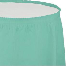 Fresh Mint Tableskirt Plastic 14'