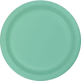 Fresh Mint Appetizer or Dessert Paper Plates Bulk 7