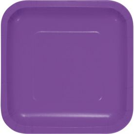 Amethyst Appetizer or Dessert Square Paper Plates 7