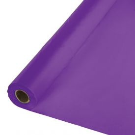 Amethyst Plastic Tablecover Banquet Roll, 100'