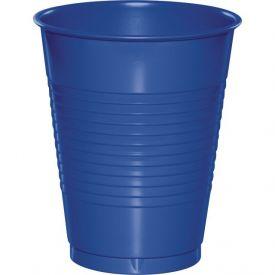 Cobalt 16 oz Plastic Cups, Bulk