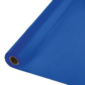 Cobalt Plastic Table Cover Banquet Rolls 100'