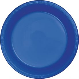 Cobalt Blue Plastic Banquet Plates 10